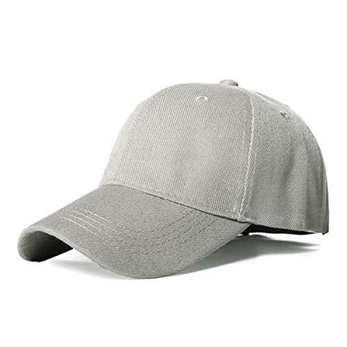xlygood Baseballmütze Damen Herren Caps klassischer Hut beiläufigen Sports im Freien justierbare Kappe, hellgrau