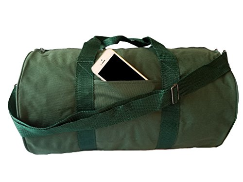 ImpecGear Round Duffel Sports Bags, Travel Gym Fitness Bag. (Green)