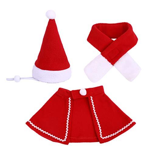 Amosfun Disfraz de Mascota de Navidad Sombrero de Santa Claus...