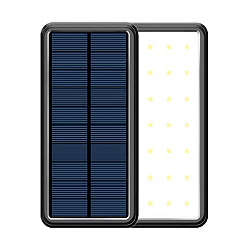 Solar Charger 40000Mah Portable Charger Power Bank with 4 Outputs and LED Camping Lights, USB C Quick Charge Waterproof Phone Charger for iPhone, Ipad, Samsung and Outdoors,Black