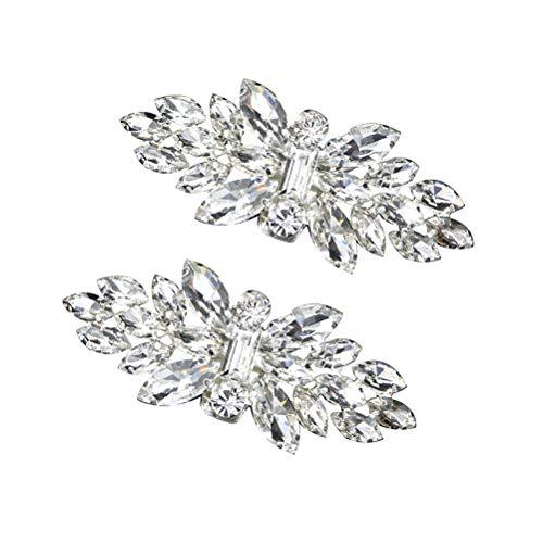 BESTOYARD 1 Par Clip de Zapatos Desmontable de Diamante de Imitación Plata...