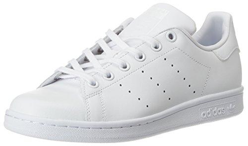 adidas Stan Smith J, Chaussures de Tennis les Enfants et les Adolescents, Blanc Cassé (White/Ftwr White/Ftwr White), 37 1/3 EU (4.5 UK)