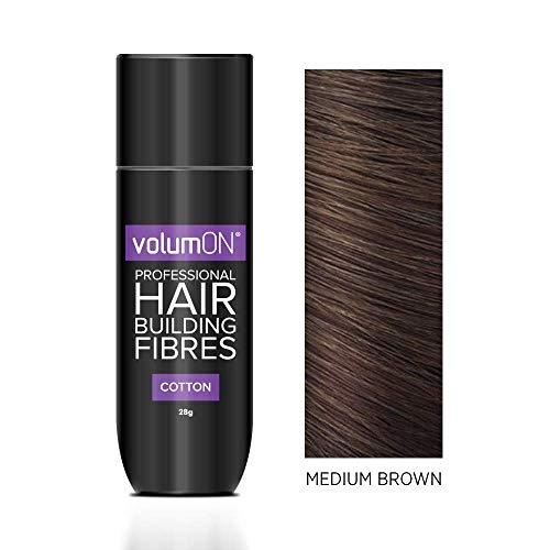 Volumon - Correttore per capelli in fibra di cotone, per capelli castani medi