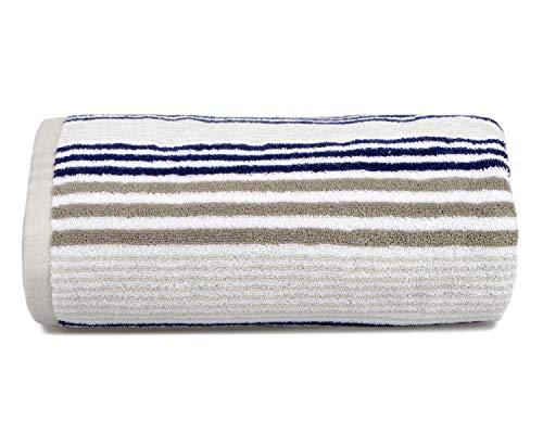 Allure Bath Fashions - Toalla de baño (100% algodón Peinado, 550 g/m², 150 x 90 cm), diseño de Rayas