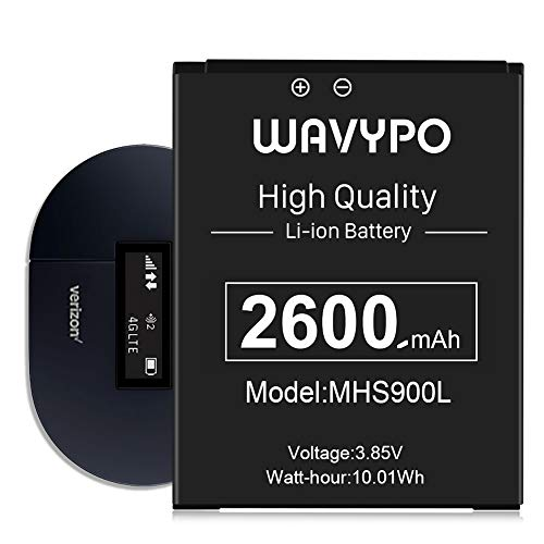 [2600mAh] MHS900L Battery, (2021 New Version) Wavypo Upgraded Huge Capacity New 0 Cycle Battery Replacement for Verizon Ellipsis Jetpack MHS900L PP V604454AR