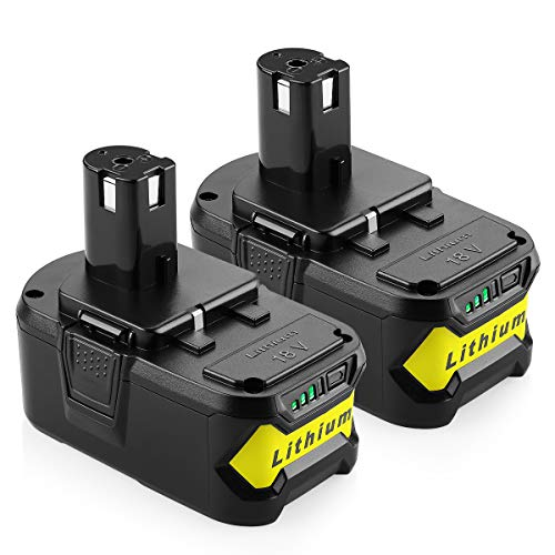 ANTRobut 2Pack 4000mAh P102 Battery Replacement Ryobi 18V Lithium Battery for Ryobi 18 Volt ONE+ P107 P104 P105 P108 Cordless Tools Battery