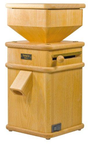 Macina per cereali macinino 2 in legno 600 Watt, capacità 220 G/min