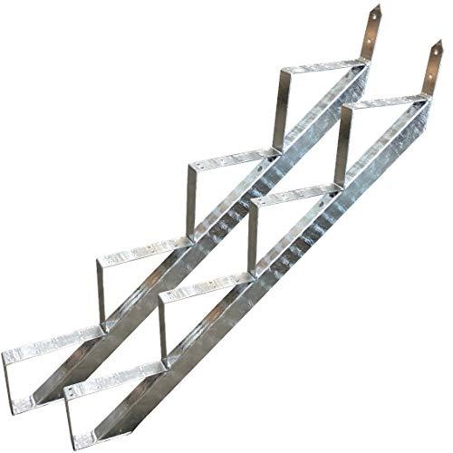 4 Stufen Treppenrahmen Stahl-Treppenwange Treppenholm Geschosshöhe 72cm Verzinkt/Ideal für den Einsatz im Innen und Außenbereich