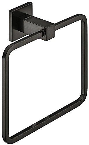 Gedotec Toallero de diseño cuadrado – Travel | colgador para montaje en pared | toallero de latón cromado pulido | 1 pieza – anillo cuadrado con material de fijación