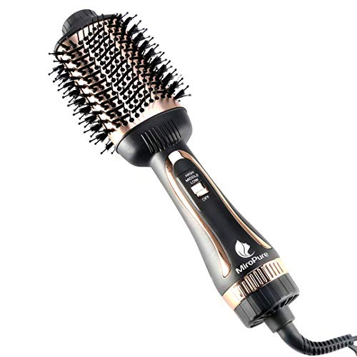 Hair Dryer Brush, MiroPure Hot Air Brush One Step Hair Dryer & Volumizer Brush Blow Dryer Styler for Straightening, Curling, Salon Negative Ion Blow Dryer Brush