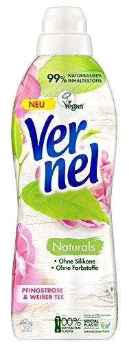 Vernel Naturals Weichspüler, Pfingstrose und Weißer Tee, 100 Prozent vegan, 99 Prozent naturbasierte Inhaltsstoffe, ohne Silikone und Farbstoffe (32 (1 x 32) Waschladungen)