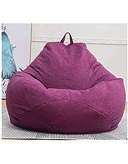 JINSUO DXXLD Sillas Sofás Lazy BeanBag Tapa sin Relleno paño de Lino Ocioso del Asiento del Bolso de Haba del Soplo Asiento sofá Tatami Muebles for la Sala (Color : Purple XL)