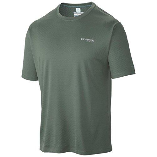 Columbia PFG Zero Rules SS Shirt, Maillot de pêche respirant pour homme (Commando 338), taille XL