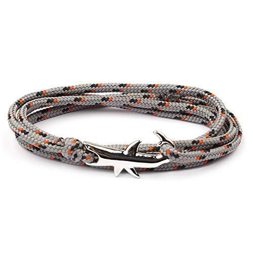 Pulsera Brazalete, Joyeria Regalo, Gold Shark Bracelet Men Jewelry Viking Bracelets For Women Pulseira Masculina Bileklik Femme Pulsera Bijoux Homme Rope Braclet 13