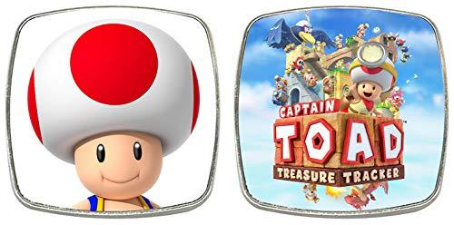 MasTazas Captain Toad Treasure Tracker 2 Imanes Metalicos Cuadrados 6,1 cm