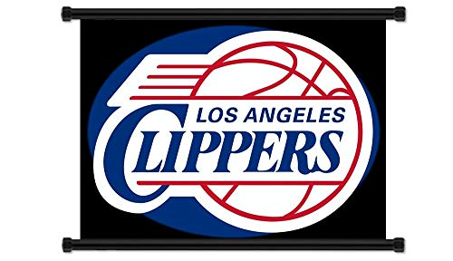 Yutirerly Los Angeles Clippers NBA Basketball Team Logo Fabric Wall Scroll Poster (32