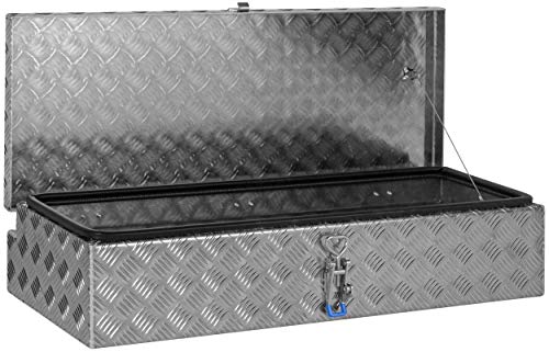 """Deichselbox, Premium, aus Alu Riffelblech 2,5/4 mm, Staubox, Truckbox, Werkzeugkasten, Gurtkiste, B 914 x H 190 x T 387 mm Inhalt: ca. 65 Ltr.""""Made in Germany"""" - 3"""