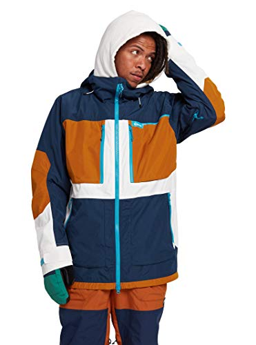 Burton Mens Frostner Jacket, Dress Blue/True Penny/Stout White, Small