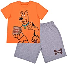 Warner Bros Scooby Doo Boy's 2-Piece Scooby Snack Shirt and Short Set, Orange, Size 2T