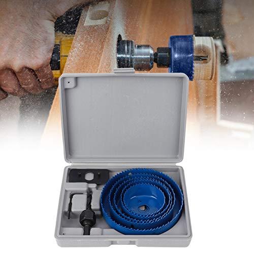 Abridor de orificios, broca de sierra ampliamente utilizada de alta eficiencia, acero, funcional, azul, tablero de aluminio, tablero de densidad, tablero de yeso para la apertura del