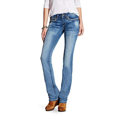 Ariat Women's R.E.A.L. Mid Rise Straight Leg Jean, Hanna Boardwalk, 31 Reg