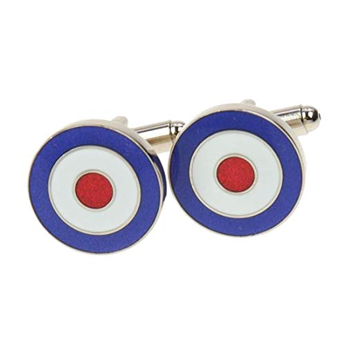 Simon Carter. Boutons de Manchette. Royal air Force, Bronze Blanc. Bleu, Fantaisie.