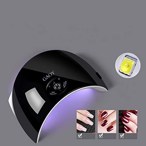 YASHANG Lampe Sèche-Ongles à LED/UV Professionnelle Séchage Rapide 36W Haute Puissance Séchoir à Ongles Ne Pas Blesser Les Yeux