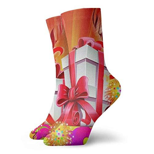 Design Art Calcetines cortos para adultos Algodón Gimnasio Clásico Ocio Deporte Calcetines cortos Adecuado para hombres Mujeres Calcetines deportivos Calcetines cómodos transpirables Casuales 30cm