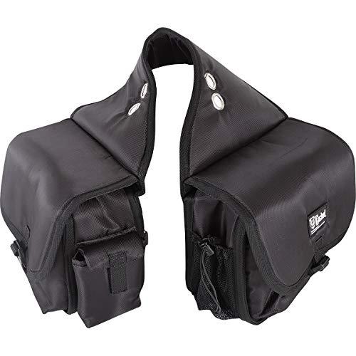 Cashel Alforja de caballo de calidad, bolsillos acolchados, color: negro.