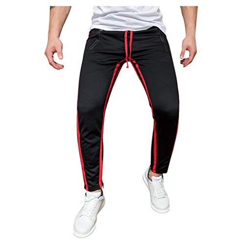 Heren lange jogger Cargo chino jeans broek elastische taille vrije tijd sportbroek slim fit ruiten joggingbroek Medium geel