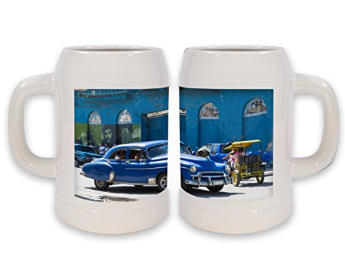 Jarra de Cerveza Coches Vintage Vintage Habana impreso