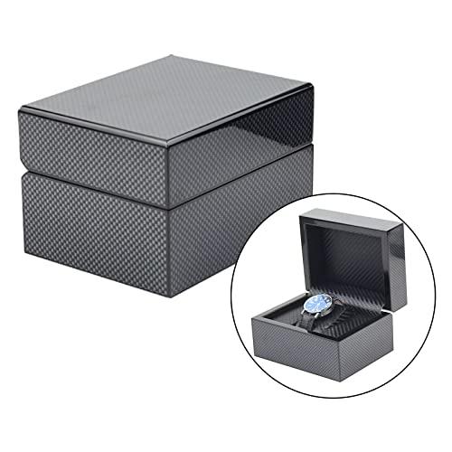 Reloj Caja de regalo Un solo reloj de almacenamiento - Caja de exhibición de reloj de fibra de carbono Organizador de una sola pulsera - Funda de reloj for un reloj pequeño grande | Organizador de gem