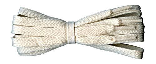Fabmania Cordones de algodón para Adidas Vans Nike, Converse - 8 mm de ancho - Natural - 140 cm - Hecho en Inglaterra