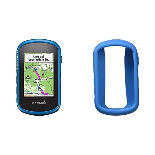 Garmin eTrex Touch 25 Fahrrad-Outdoor-Navigationsgerät, TopoActive Karte, GPS und GLONASS, 2,6 Zoll (6,6 cm) kapazitiver Farb-Touchdisplay & eTrex 010–12178–004Bumper Silikon Touch blau