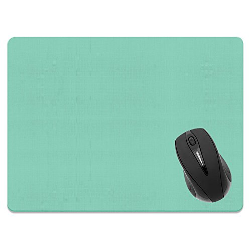Extra Large (X-Large) Size Non-Slip Rectangle Mousepad, FINCIBO Solid Mint Green Mouse Pad for Home, Office and Gaming Desk