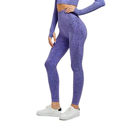 QTJY Leggings Deportivos sin Costuras para Correr para Mujer, Pantalones de Yoga, Cintura Alta, Ejercicio Push-up, Estiramiento, Gimnasio, Celulitis, Leggings I M