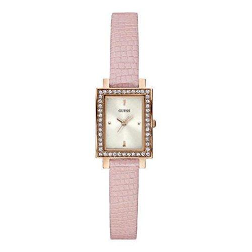 Guess Dames Laila Rose Goud & Roze Lederen Horloge W0734L4