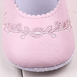 HMG Baby Girl First Walkers PU Cuir Mignon Chaussures Princesse Crib, Taille: 12 cm (Bleu Clair) (Color : Light Blue)
