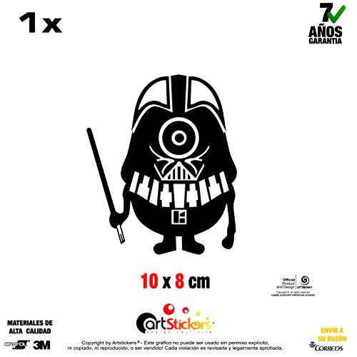 Artstickers Aufkleber Minion Darth Vader, Vinyl, schwarz, 1 Stück 10 cm x 8 cm SPILART Geschenk