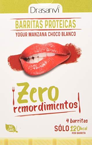 Drasanvi Caja Barrita Proteica Yogurt Manzana Chocolate Blanco 4X35G Zero Remordimientos 140 g