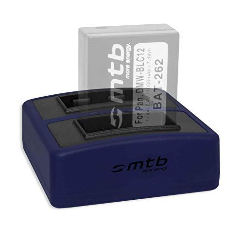Dual-Ladegerät Compact (USB) für DMW-BLC12 BLC12E / Leica BP-DC12 / Sigma BP-51 - inkl. Micro-USB-Kabel (2X Akku gleichzeitig ladbar)