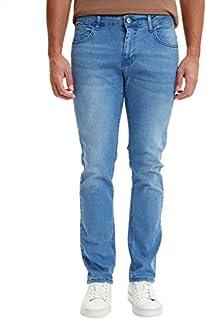 DeFacto Side-Pocket Button Closure Ankle-Length Denim Pants for Men - Light Blue, 30