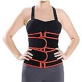 FGDJTYYJ Entrenador de Cintura de Neopreno para Mujer Chaleco con Corsé Abierto - Control Slim Body Shaper (Color : A, Size : M)