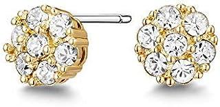 Mestige Golden Whitney Earrings with Swarovski® Crystals (Gold) Gifts Women Girls, Classic Stud Earrings