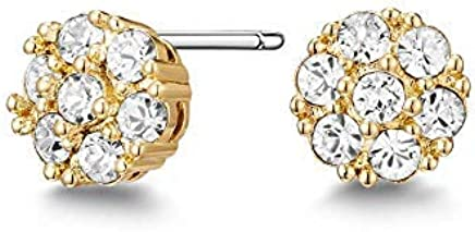 Mestige Golden Whitney Earrings with Swarovski® Crystals (Gold) Gifts Women Girls, Classic Stud Earrings
