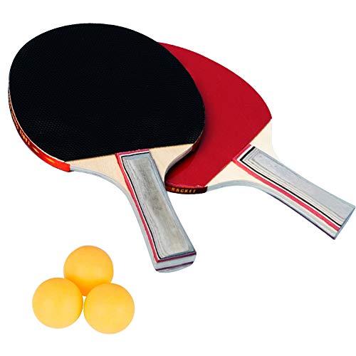 WENTS Raquetas de Tenis de Mesa Profesionales Conjunto de Tenis de Mesa 2 Raquetas 3 Pelotas de Tenis de Mesa 1 Funda Portátil Raquetas de Tenis de Mesa Portátil para Interior al Aire Libre