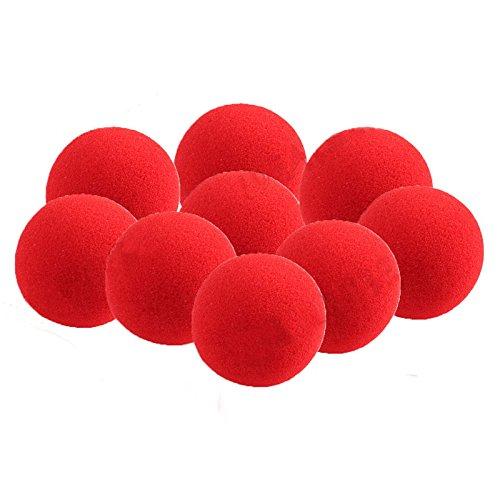 Pinzhi 10 Kleine Rote Schwamm Ball Magic Stütze Nahaufnahme Magie