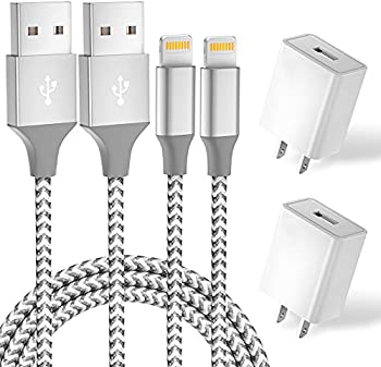 2-Pack Aonsen 6 Ft. USB Fast Charging Data Sync Transfer Lightning Cable