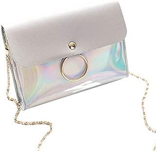 TOOGOO Crossbody Bag For Women Chain Shoulder Bag Circle Small Messenger Bag Womens Handbags And Purses Evening Clutch Bags(Gray)