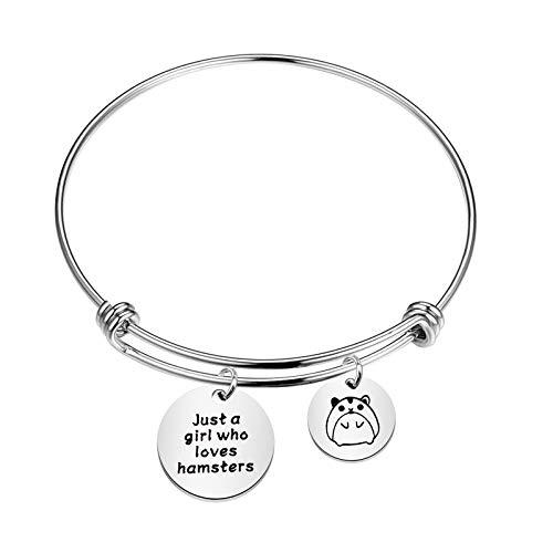 SEIRAA Hamsters Lover Gift Hamster Charm Bracelet